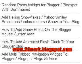 Recent Posts Widget with post titles only