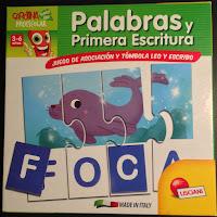 Foto de la caja del puzle Palabras y primera escritura