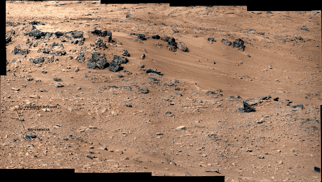 Imagen de superficie de  Marte original de la Nasa con anomalia
