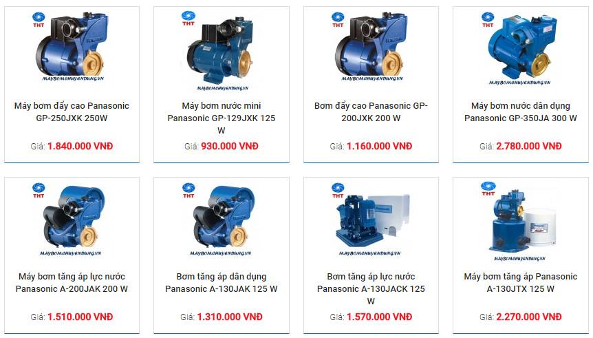 giá bán máy bơm nước panasonic