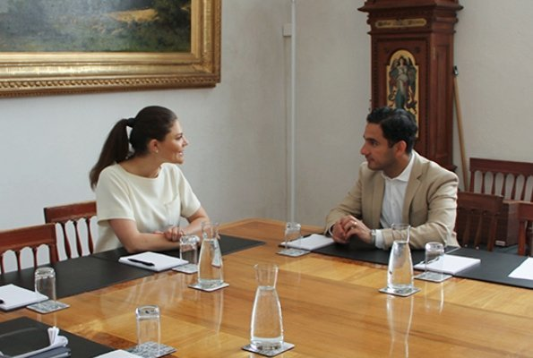 Crown Princess Victoria of Sweden met with Minister for Public Administration, Ardalan Shekarabi at Stockholm Royal Palace. Sustainable Development Goals