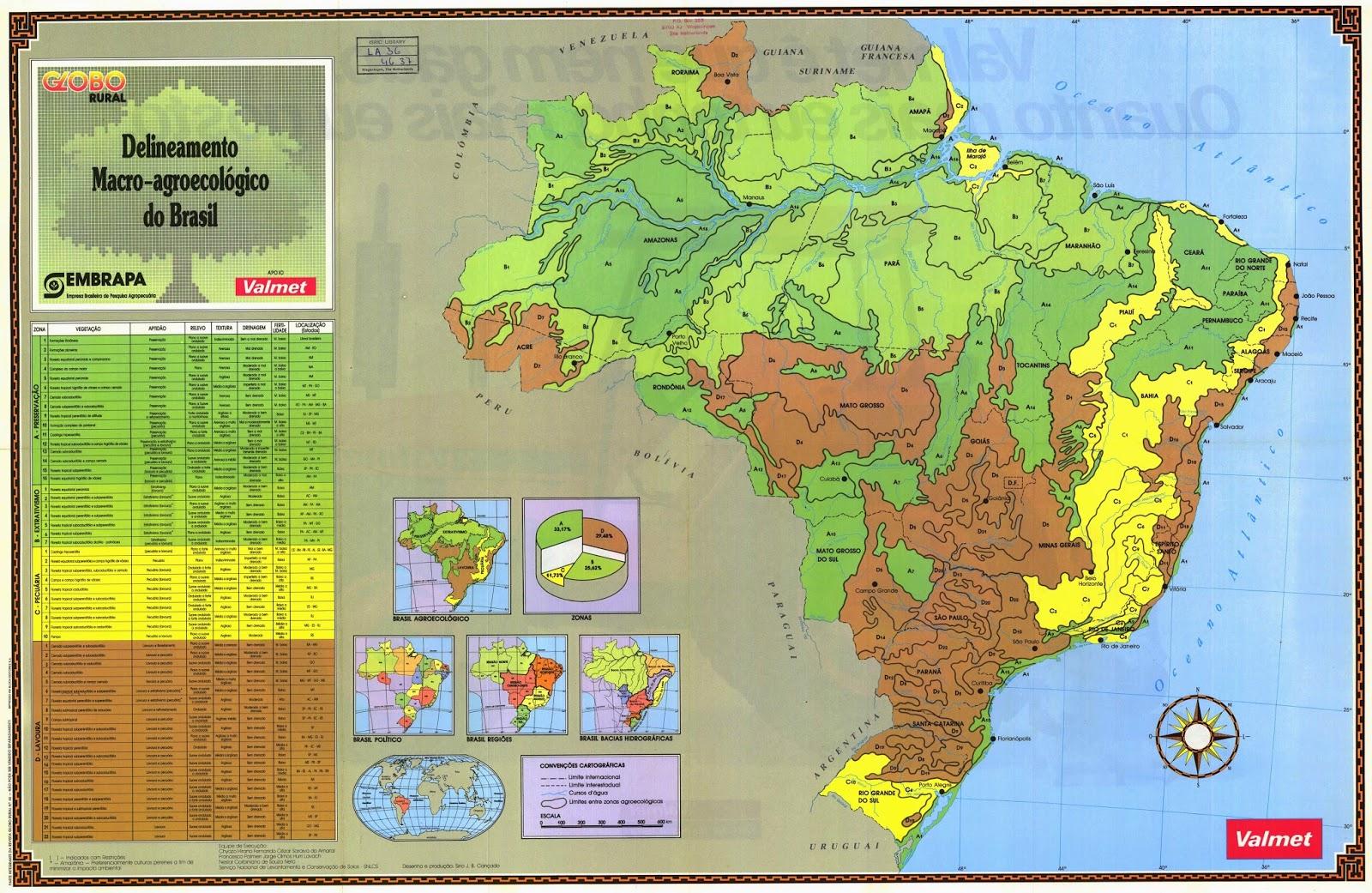 #Brasil | Mapas Geográficos do Brasil