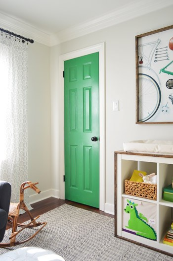 painted door kids room accent | young house love