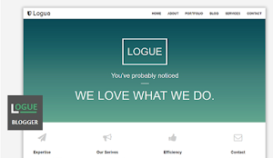 Logue blog and portifolio blogger template