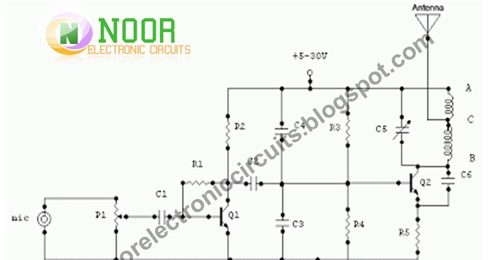 Noor Electronic Circuits: 1.5 Watt FM Transmitter circuit