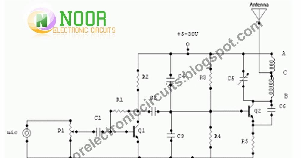 Noor Electronic Circuits: 1.5 Watt FM Transmitter Circuit