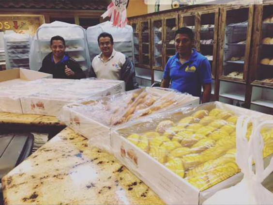 Three of the four bakers trapped in bakery after hurricane Harvey