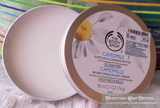 The Body Shop Camomile Sumptuous Cleansing Butter Review And Demo