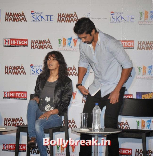 Pragya Yadav and Saqib Saleem, Pragya Yadav skate at Hawaa Hawaai Promotion