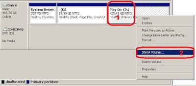 2 langkah mudah membagi partisi hardisk tanpa software