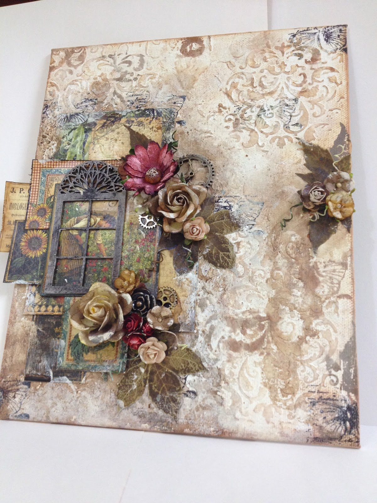 Mixed Media Canvas Art With G45 French Country My