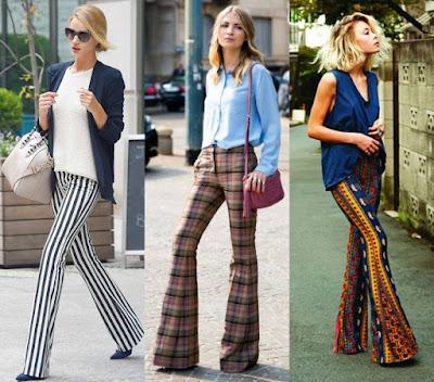 Pantalones acampanados de vestir