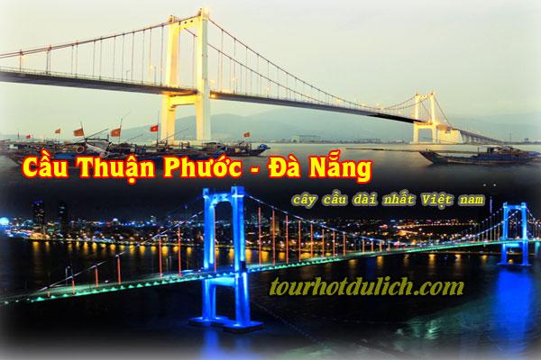 cầu Thuận Phước Đà Nẵng cầu treo dài nhất Việt Nam