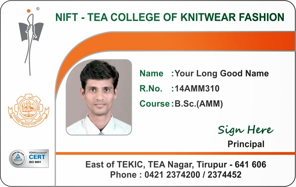 ID Card - Coimbatore - Ph 97905 47171 College Student and Staff - id card template