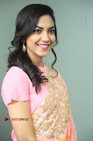 Actress Ritu Varma Pos in Beautiful Pink Anarkali Dress at at Keshava Movie Interview .COM 0137.JPG