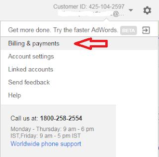 adwords billing setup