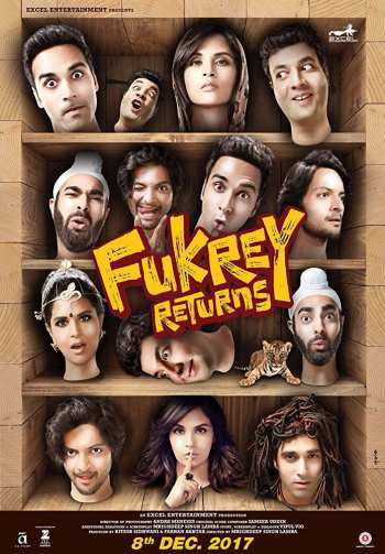 Fukrey Returns 2017 Hindi Movie 480p HDTVRip 400Mb watch Online Download Full Movie 9xmovies word4ufree moviescounter bolly4u 300mb movie