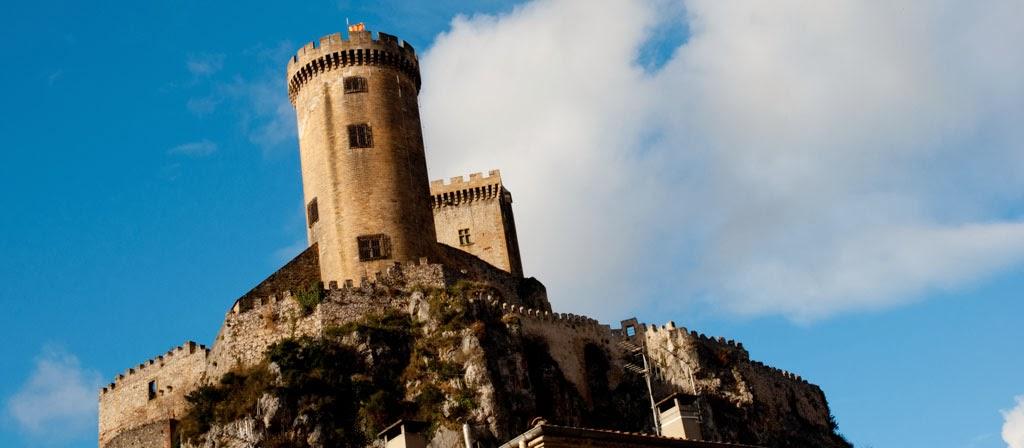 Vista El castillo de Foix