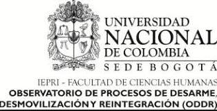 Foro ODDR de la Universidad Nacional - Aportes al Proyecto Legislativo de Modificación a la Ley de Justicia y Paz