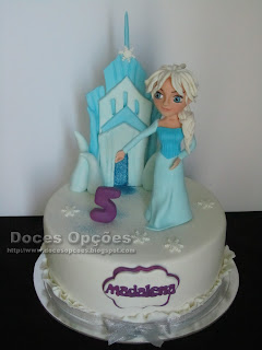 A princesa Elsa no 5º aniversário da Madalena