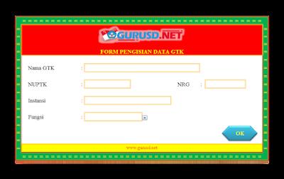 Aplikasi Guru Cetak Kartu NUPTK NRG dan NISN Terbaru