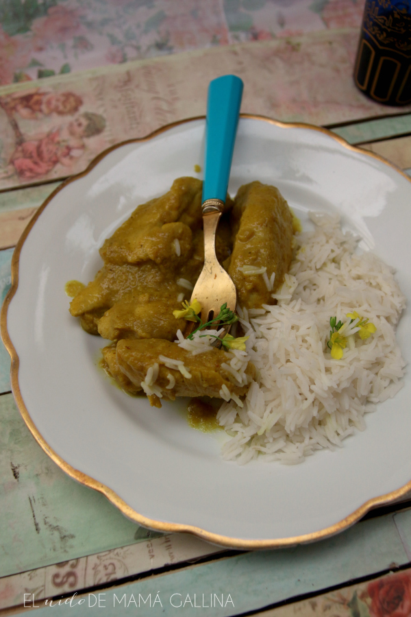 pollo al curry de manzana