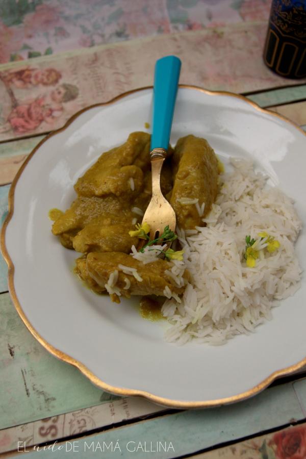 pollo al curry de manzana