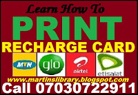 RECHARGE CARD
