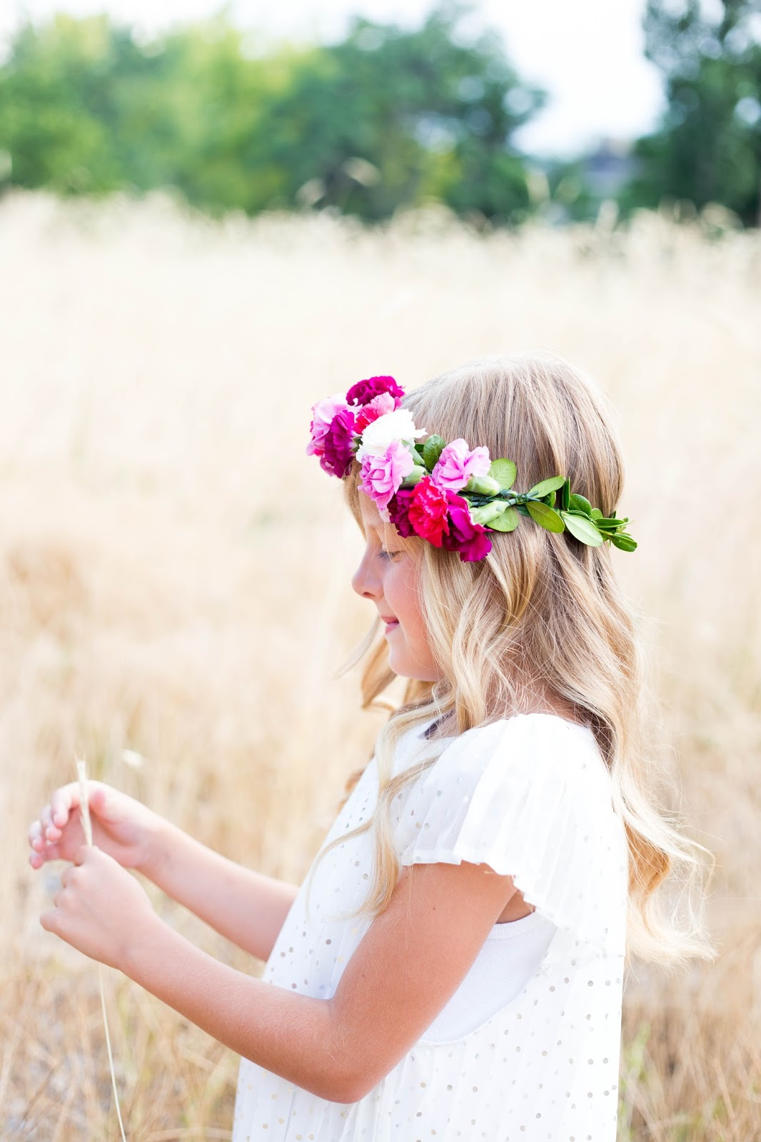 Do It Yourself Divas Diy Flower Crown Baptism Dress Reveal