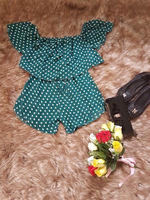 Bộ áo kiểu rớt vai quần short đẹp giá rẻ