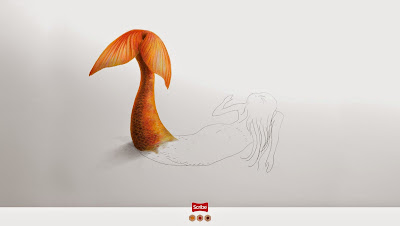 Perspectiva anamorfica y publicidad impresa creatividad - advertising and creative drawings-Sirena