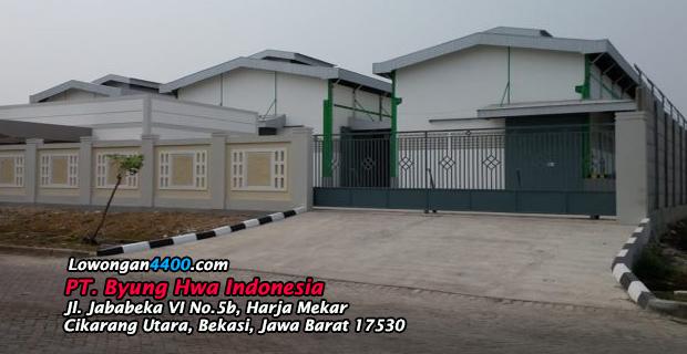 Lowongan Kerja PT. Byung Hwa Indonesia Jababeka