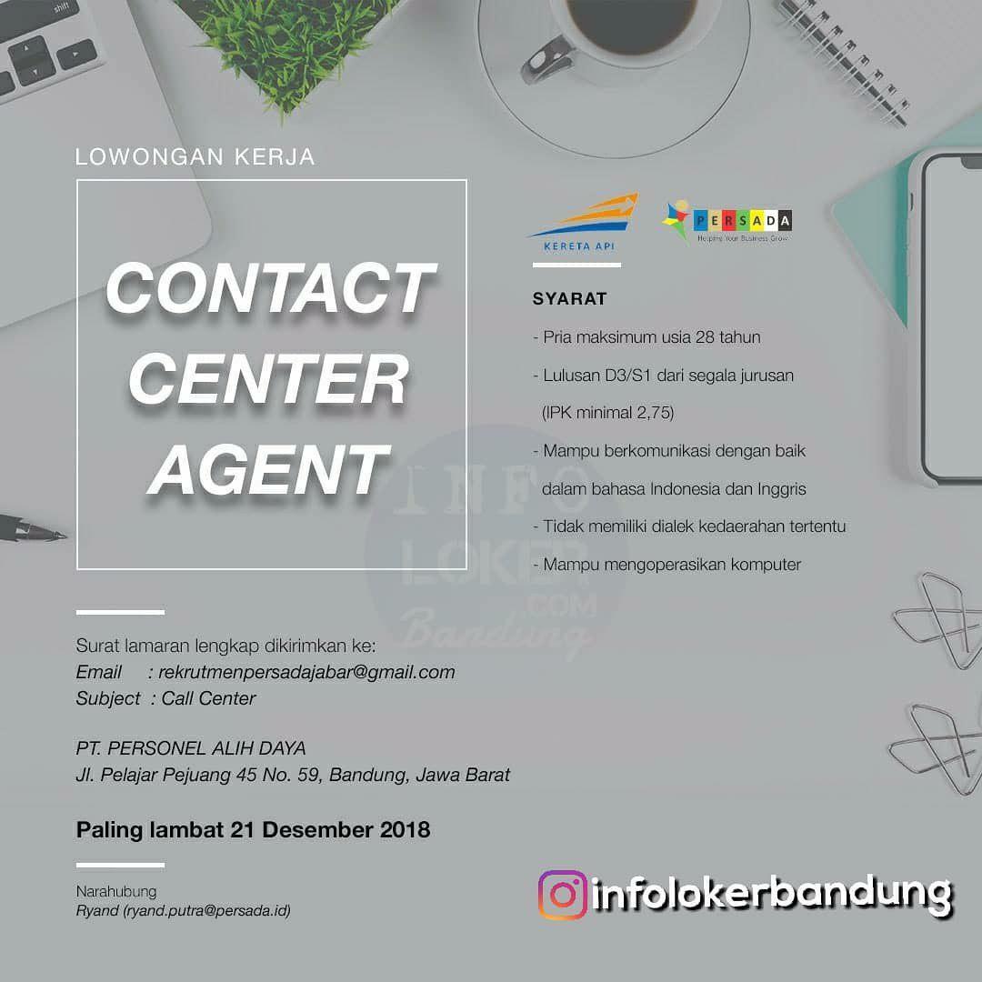 Lowongan Kerja Agent Contact Center Agent PT. Personel Alih Daya Bandung Desember 2018
