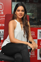 Tanya Hope in a whtie shirt and leggings at Song launch of Movie Patel Sir ~  Exclusive Celebrities Galleries 054.JPG