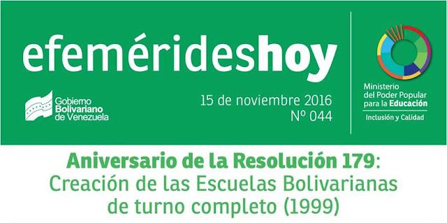 Efemérides Hoy UnDíaComoHoy en 1999 fueron creadas las escuelas bolivarianas de turno completo
