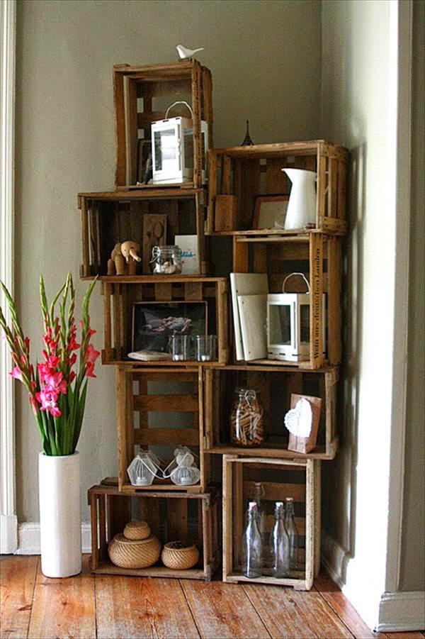 Decoración con cajas de madera