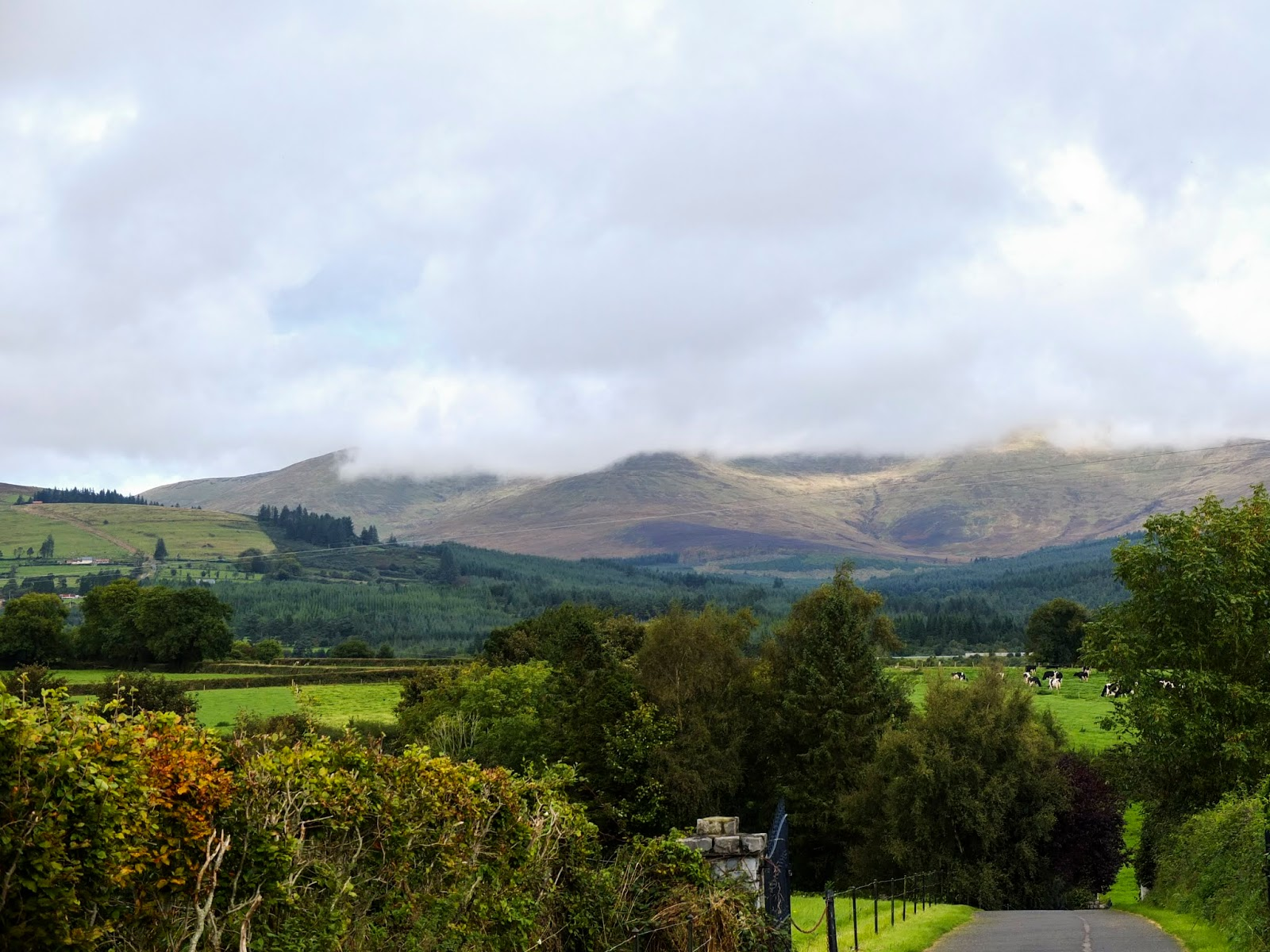 A view of the Galtee Mountains from the Mitchelstown Cave.