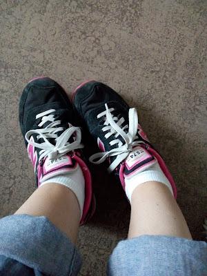 new balance sneakers dark blue pink roze donkerblauw schoenen