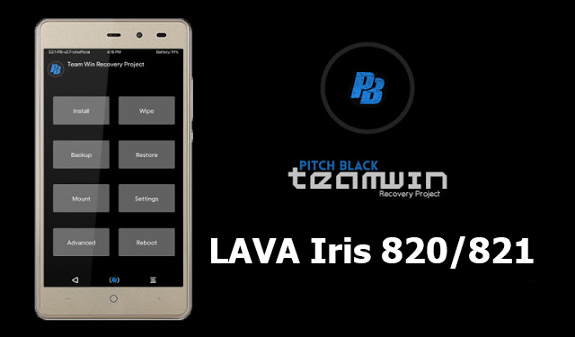 PitchBlack Twrp 3 2 1-0 Recovery For Lava iris 820 MT6580