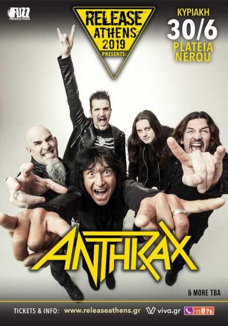 ANTHRAX: Στο Release Athens Festival μαζί με τους Disturbed