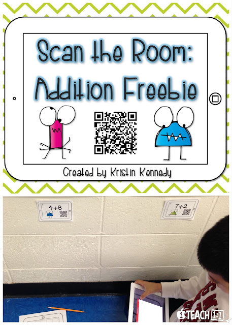 Free Addition QR Code Activity