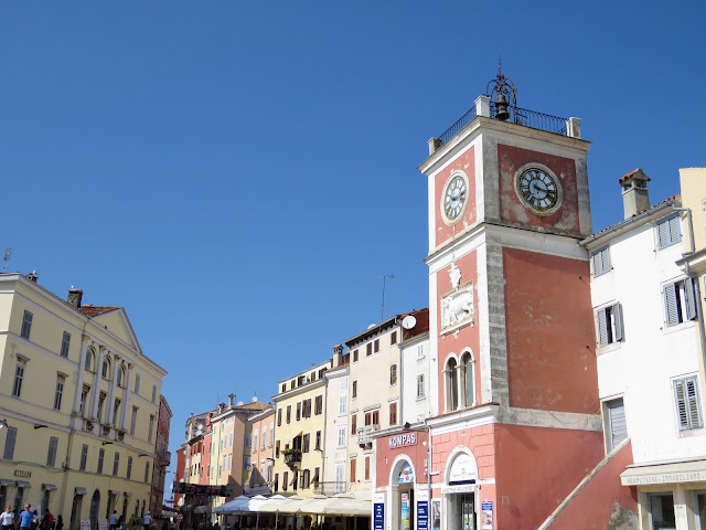 Clock tower in Rovinj Old Town