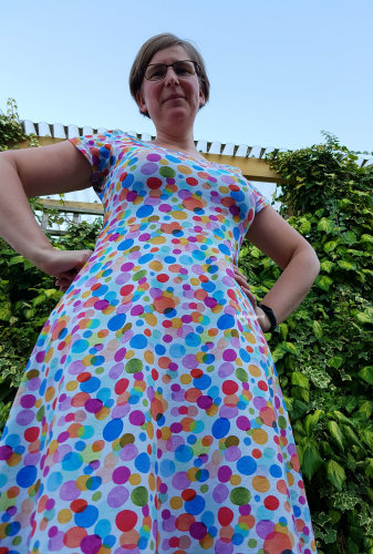 colourful cirkels lady skater dress MaMarieke