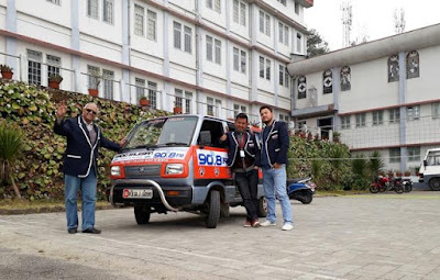 Darjeeling college community sets out on a Indo-Nepal Friendship Tour