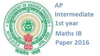 intermediate first year maths 1b model papers