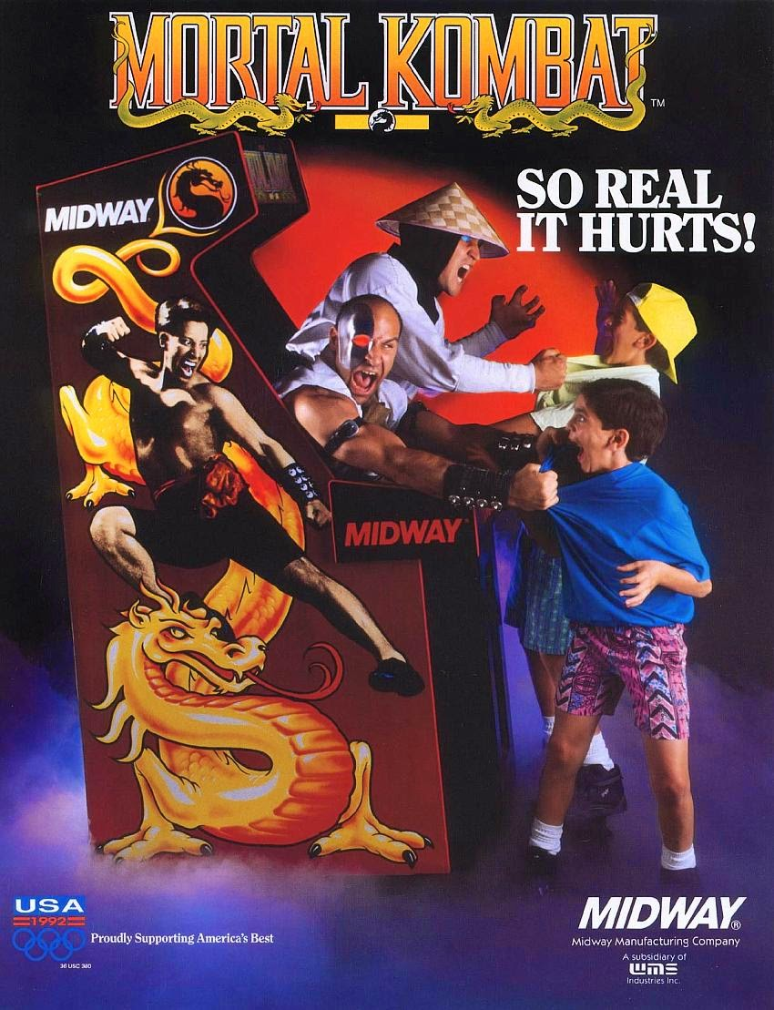 Mortal Kombat+arcade+game+portable+art+flyer