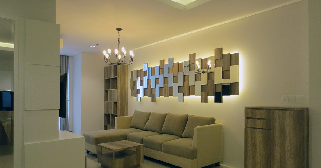 Desain Interior Apartemen L'Avenue type 2 bedroom 88 m2 @ Pa