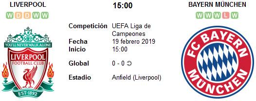 Liverpool vs Bayern Múnich en VIVO