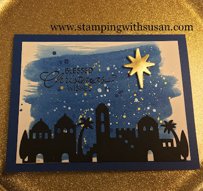 Stampin' Up!, www.stampingwithsusan.com, Bethlehem Edgelits, Night in Bethlehem, Aqua Pen