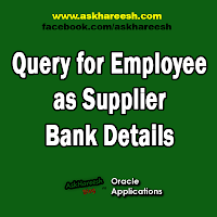 Query for Employee as Supplier Bank Details